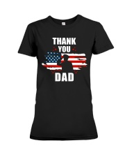 4th of July Independence day Hero Dad Premium Fit Ladies Tee thumbnail