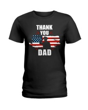 4th of July Independence day Hero Dad Ladies T-Shirt thumbnail