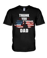 4th of July Independence day Hero Dad V-Neck T-Shirt thumbnail