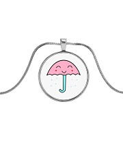 Jewelry Rain Umbrella Metallic Circle Necklace thumbnail