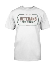 Veterans for Trump T Shirt Classic T-Shirt front