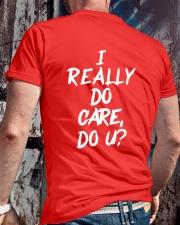 I really do care do u t-shirts Classic T-Shirt lifestyle-mens-crewneck-back-2