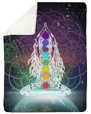 Meditation Sherpa Fleece Blanket tile