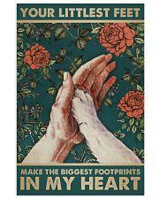 LITTLEST FEET BIGGEST FOOTPRINTS 11x17 Poster front