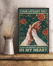 LITTLEST FEET BIGGEST FOOTPRINTS 11x17 Poster lifestyle-poster-3