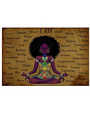 I am strong divine connected expressive loved 17x11 Poster front
