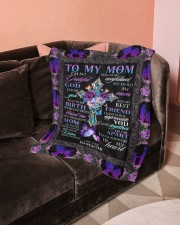 """To My Mom Small Fleece Blanket - 30"""" x 40"""" aos-coral-fleece-blanket-30x40-lifestyle-front-05a"""