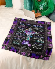 """To My Mom Small Fleece Blanket - 30"""" x 40"""" aos-coral-fleece-blanket-30x40-lifestyle-front-07a"""