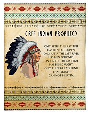 Cree Indian Prophecy Fleece Blanket tile