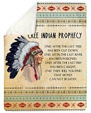 Cree Indian Prophecy Sherpa Fleece Blanket tile