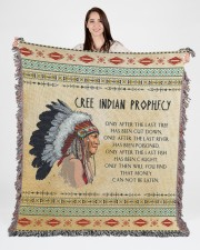 Cree Indian Prophecy 50x60 - Woven Blanket aos-woven-throw-blanket-50x60-lifestyle-front-04