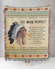 Cree Indian Prophecy 50x60 - Woven Blanket aos-woven-throw-blanket-50x60-lifestyle-front-08