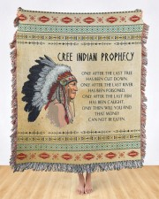Cree Indian Prophecy 50x60 - Woven Blanket aos-woven-throw-blanket-50x60-lifestyle-front-09