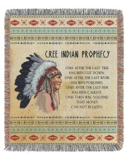Cree Indian Prophecy 50x60 - Woven Blanket front