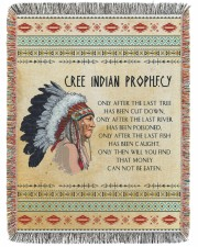 Cree Indian Prophecy 60x80 - Woven Blanket tile