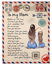 """To My Mom Small Fleece Blanket - 30"""" x 40"""" front"""