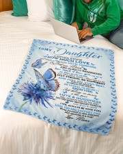 """To My Daughter Small Fleece Blanket - 30"""" x 40"""" aos-coral-fleece-blanket-30x40-lifestyle-front-07a"""