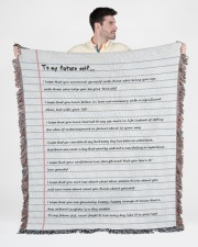 To My Future Self 50x60 - Woven Blanket aos-woven-throw-blanket-50x60-lifestyle-front-01