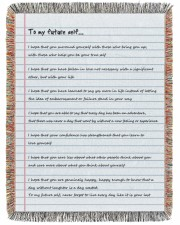 To My Future Self 60x80 - Woven Blanket tile
