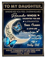 """To My Daughter Small Fleece Blanket - 30"""" x 40"""" front"""