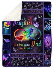 Im A Proud Daughter Sherpa Fleece Blanket tile
