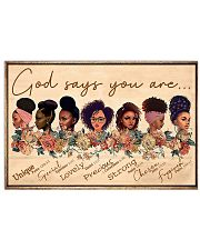 God Say You Are Unique 17x11 Poster front