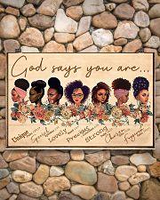 God Say You Are Unique 17x11 Poster poster-landscape-17x11-lifestyle-15