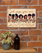 God Say You Are Unique 17x11 Poster poster-landscape-17x11-lifestyle-23