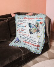 """Im A Proud Daughter-in-law Small Fleece Blanket - 30"""" x 40"""" aos-coral-fleece-blanket-30x40-lifestyle-front-05a"""