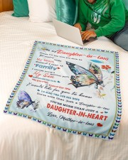 """Im A Proud Daughter-in-law Small Fleece Blanket - 30"""" x 40"""" aos-coral-fleece-blanket-30x40-lifestyle-front-07a"""