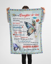 """Im A Proud Daughter-in-law Small Fleece Blanket - 30"""" x 40"""" aos-coral-fleece-blanket-30x40-lifestyle-front-14a"""