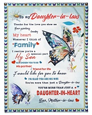 """Im A Proud Daughter-in-law Small Fleece Blanket - 30"""" x 40"""" front"""