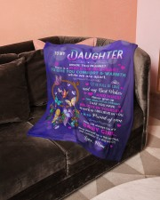 """To My Daughter Small Fleece Blanket - 30"""" x 40"""" aos-coral-fleece-blanket-30x40-lifestyle-front-05a"""