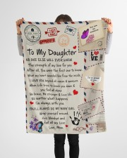 """To My Daughter Small Fleece Blanket - 30"""" x 40"""" aos-coral-fleece-blanket-30x40-lifestyle-front-14a"""