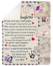 To My Daughter Sherpa Fleece Blanket tile