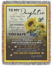 To My Daughter 60x80 - Woven Blanket tile