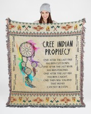 Cree Indian Prophecy 50x60 - Woven Blanket aos-woven-throw-blanket-50x60-lifestyle-front-02