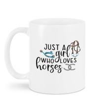Just A Girl Who Loves Horses Mug back