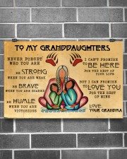To My Granddaughters 17x11 Poster aos-poster-landscape-17x11-lifestyle-18