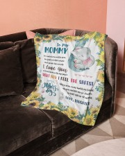 """To My Mommy Small Fleece Blanket - 30"""" x 40"""" aos-coral-fleece-blanket-30x40-lifestyle-front-05a"""