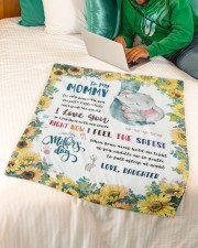 """To My Mommy Small Fleece Blanket - 30"""" x 40"""" aos-coral-fleece-blanket-30x40-lifestyle-front-07a"""
