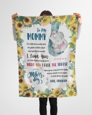 """To My Mommy Small Fleece Blanket - 30"""" x 40"""" aos-coral-fleece-blanket-30x40-lifestyle-front-14a"""