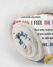 """To My Mommy Small Fleece Blanket - 30"""" x 40"""" aos-coral-fleece-blanket-30x40-lifestyle-front-18"""