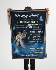 """To My Mom Small Fleece Blanket - 30"""" x 40"""" aos-coral-fleece-blanket-30x40-lifestyle-front-14a"""