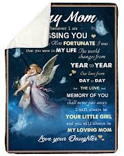 To My Mom Sherpa Fleece Blanket tile