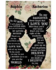 To My Daughter To My Mom 11x17 Poster front