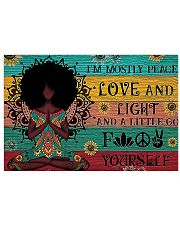 Peace Love and Fight 17x11 Poster front