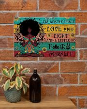 Peace Love and Fight 17x11 Poster poster-landscape-17x11-lifestyle-23