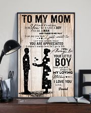 To My Mom - Son 11x17 Poster lifestyle-poster-2