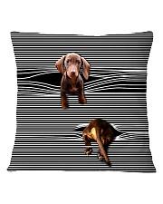 Funny Dachshund Square Pillowcase thumbnail